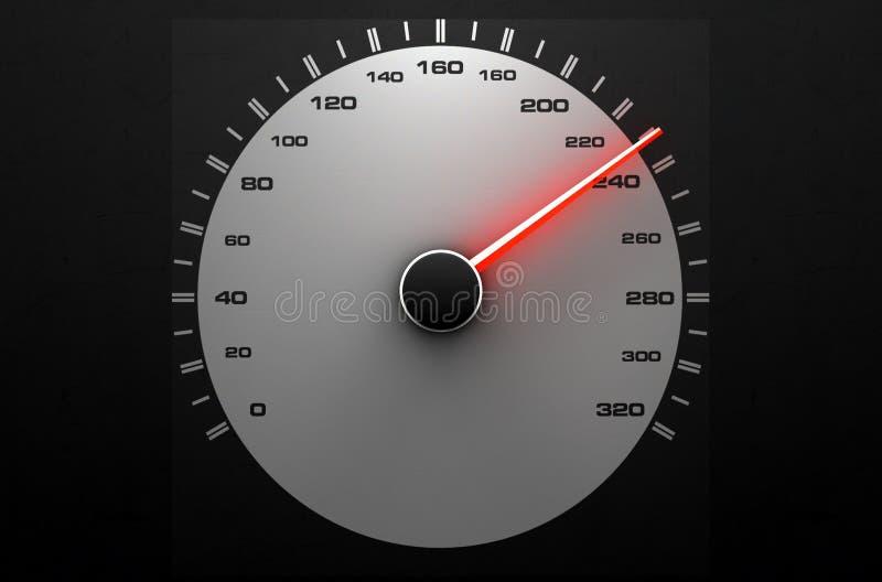 Aguja roja rápida del velocímetro stock de ilustración