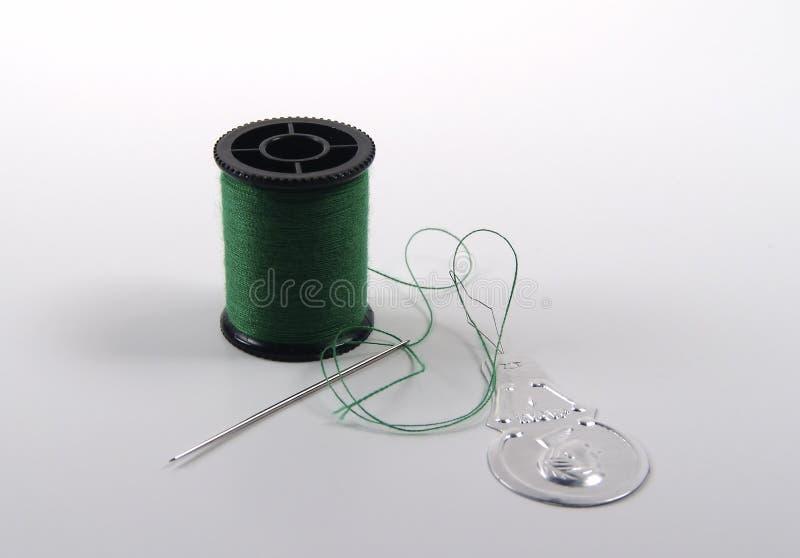 Aguja y cuerda de rosca foto de archivo