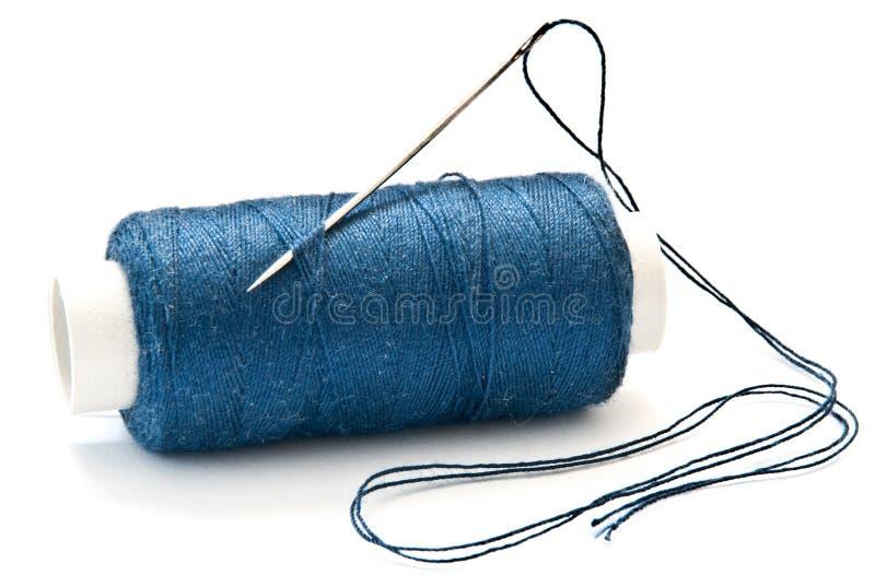 Aguja y cuerda de rosca imagen de archivo