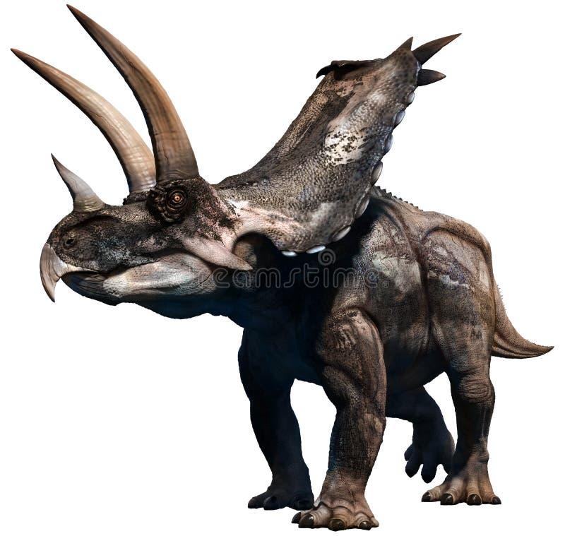Agujaceratops ilustração do vetor