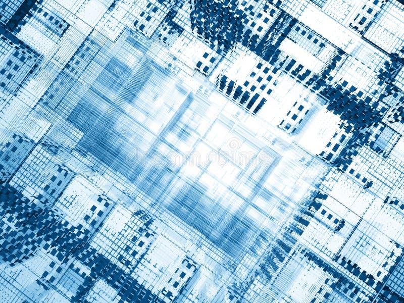 Agujero azul del cyber libre illustration