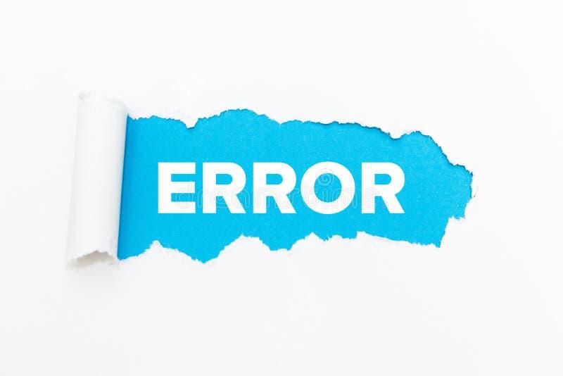 Agujero azul en el Libro Blanco error foto de archivo libre de regalías