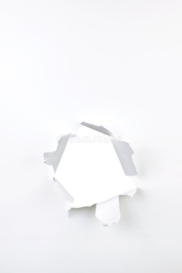 Agujero de papel fotos de archivo libres de regalías