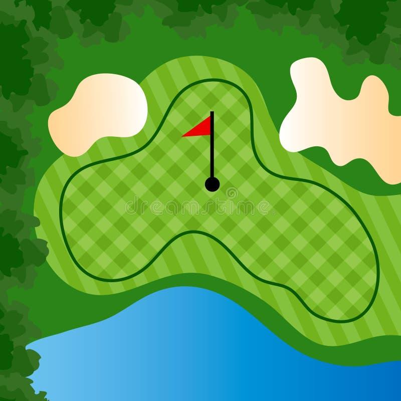 Agujero del campo de golf ilustración del vector