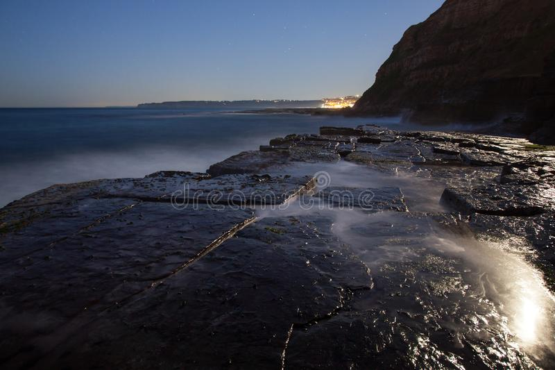 Agujero del carretón - plataforma Newcastle Australia de la roca fotografía de archivo libre de regalías