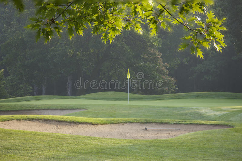 Agujero del golf fotos de archivo