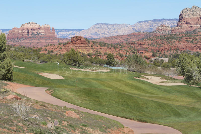 Agujero del golf de Sedona Arizona imagen de archivo