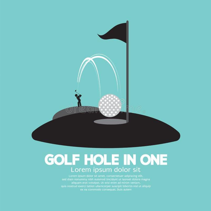 Agujero del golf en un símbolo del deporte libre illustration
