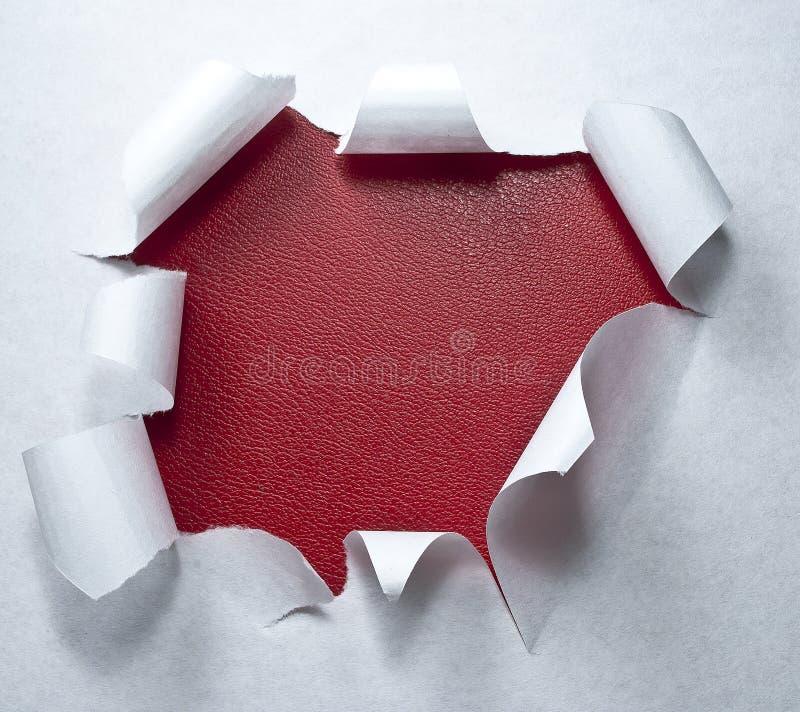 agujero del papel de la brecha de la forma del círculo imagen de archivo
