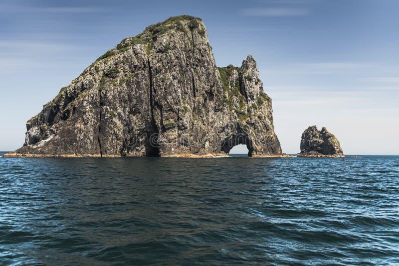 Agujero famoso en la roca, Nueva Zelanda imagen de archivo