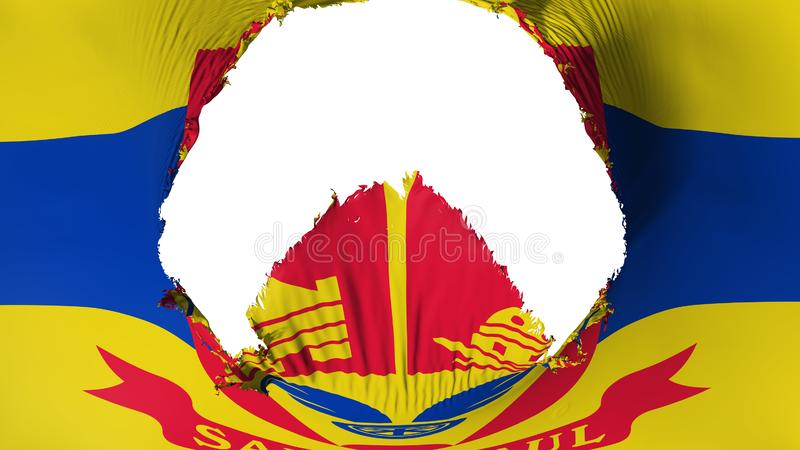 Agujero grande en bandera del capital de Saint Paul stock de ilustración