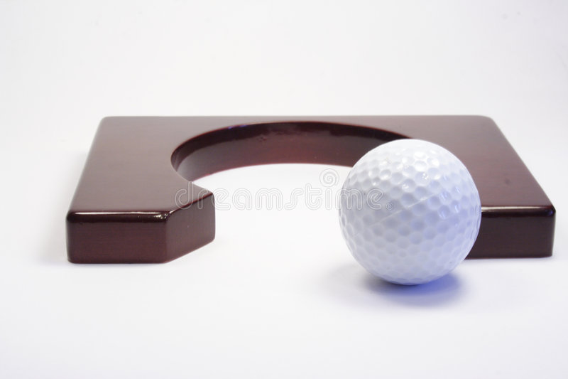Agujero para un golf foto de archivo libre de regalías