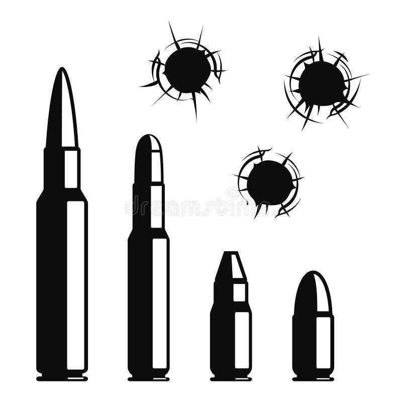 Agujeros de bala del vector ilustración del vector