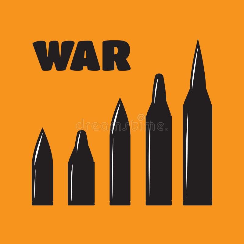Agujeros de bala del vector fijados Violencia y crimen, tiro y militar stock de ilustración