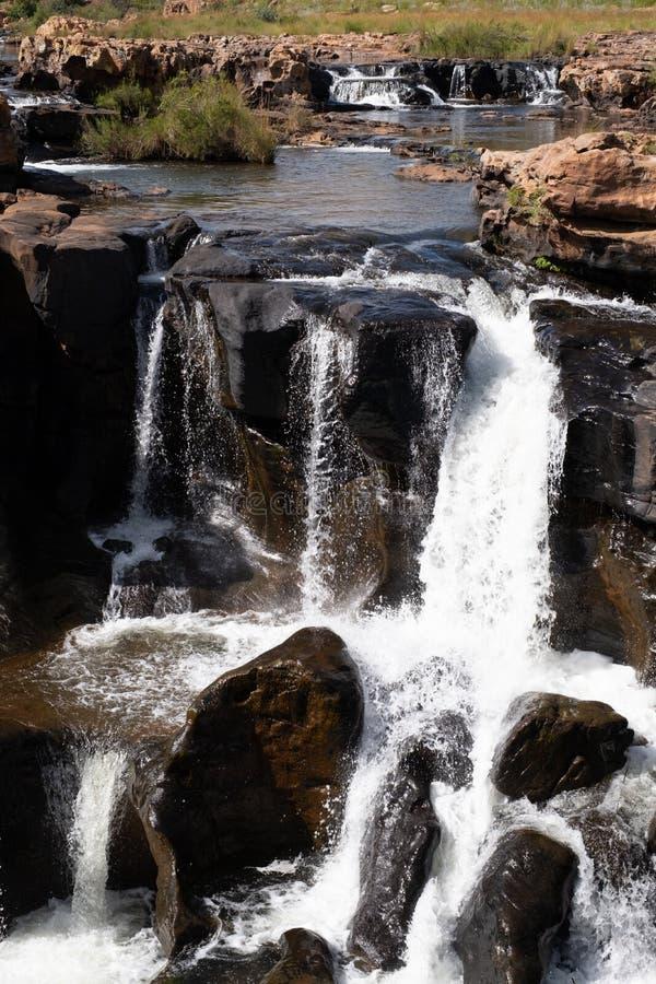 Agujeros de la suerte de Bourke, barranco del río de Blyde cerca de Graskop, Mpumalanga, Suráfrica Pieza de la forma de la ruta d imagenes de archivo