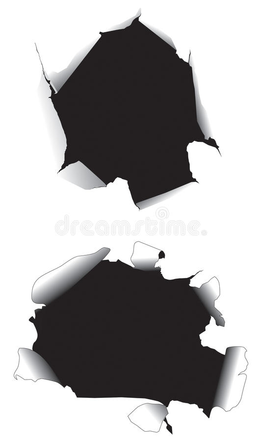 Agujeros de papel libre illustration
