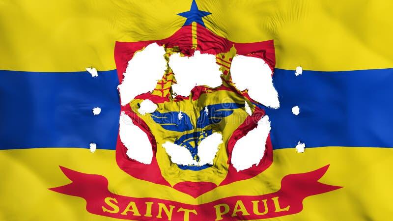 Agujeros en bandera del capital de Saint Paul stock de ilustración