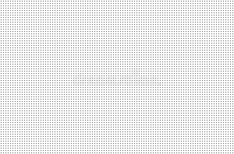 Agujeros perforados Parrilla inconsútil del metal Cerca de alambre aislada en el fondo blanco Modelo del círculo Ilustración ilustración del vector