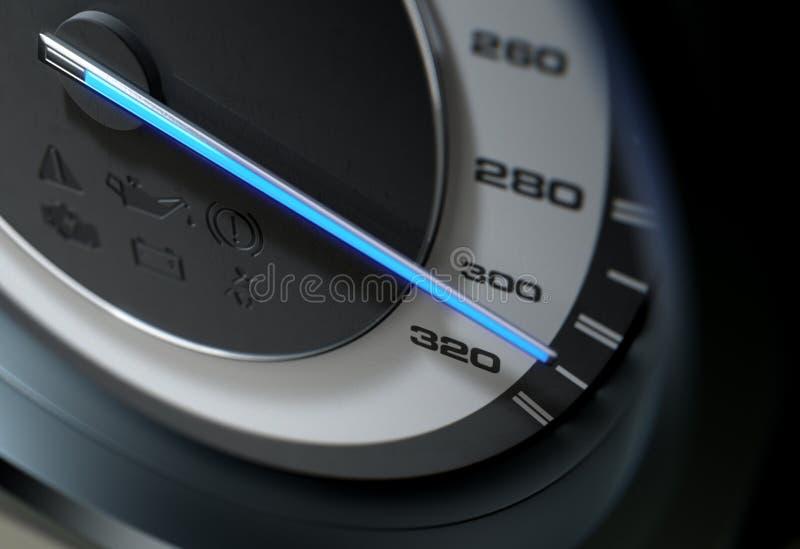 Agulha azul rápida do velocímetro ilustração royalty free