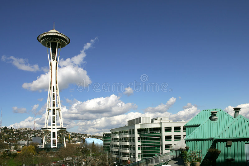 Agulha de Seattle foto de stock