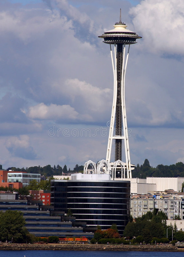 Agulha do céu de Seattle fotos de stock