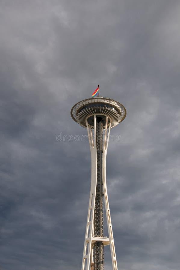 Agulha do espaço em Seattle. fotografia de stock