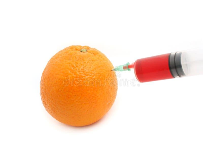 Agulha e laranja foto de stock royalty free