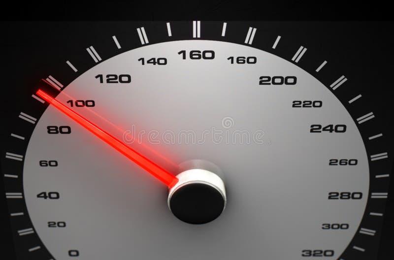 Agulha vermelha média do velocímetro ilustração stock