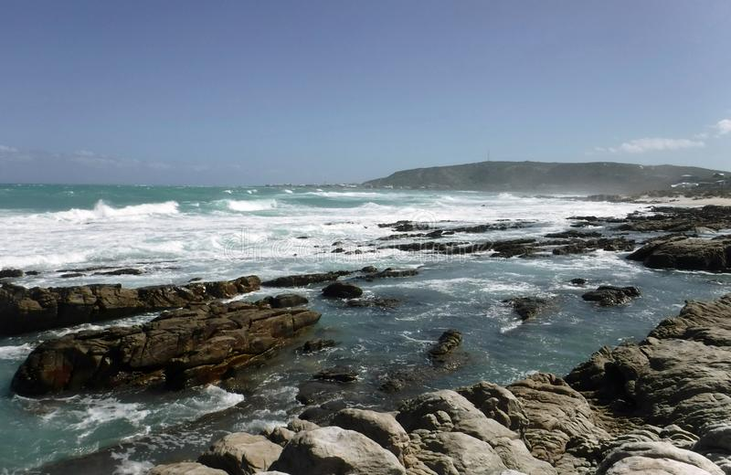 Agulhas coastline royalty free stock photography