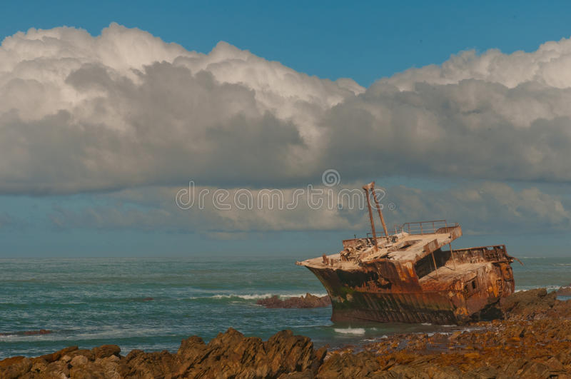 Agulhas ship wreck stock photos