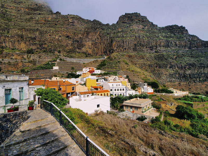 Agulo on La Gomera. Agulo - small town on the island La Gomera, Canary Islands, Spain royalty free stock images