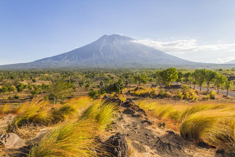Agung volcano - Bali stock photos