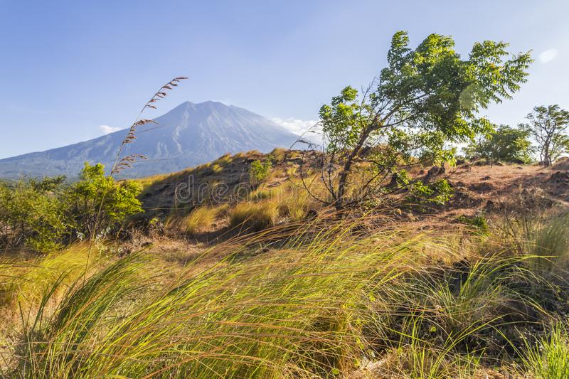 Agung volcano - Bali royalty free stock photography