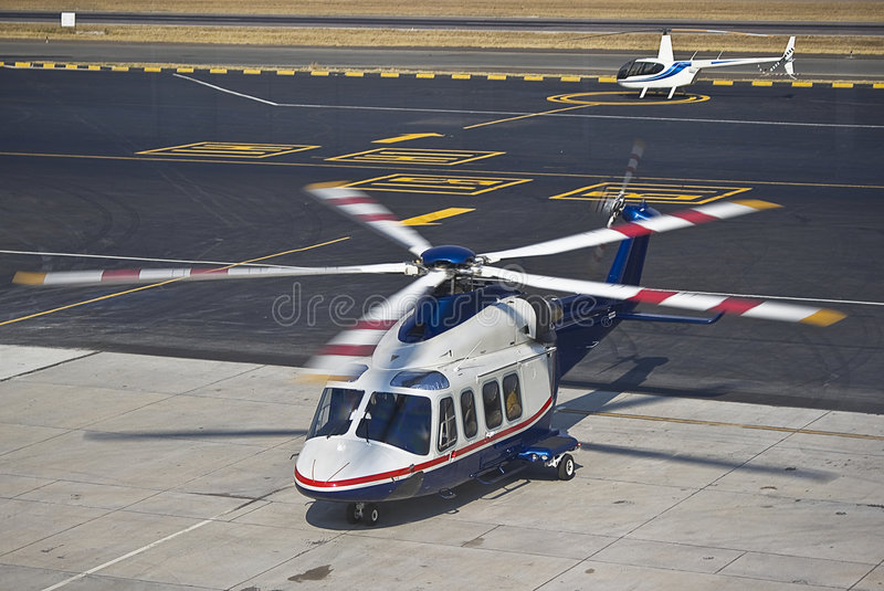 Agusta Westland AW139 Helicopter stock images