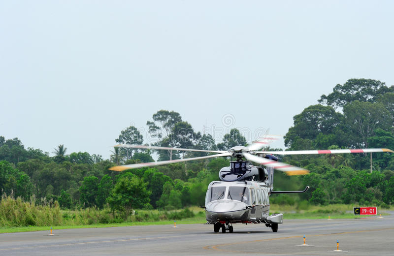 AgustaWestland AW189 Asia tour visiting Thailand stock image