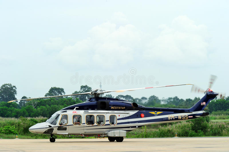 AgustaWestland AW189 Asia tour visiting Thailand royalty free stock photography