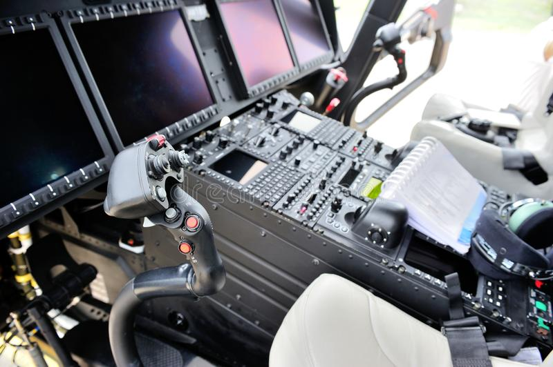 AgustaWestland AW189 cockpit royalty free stock images
