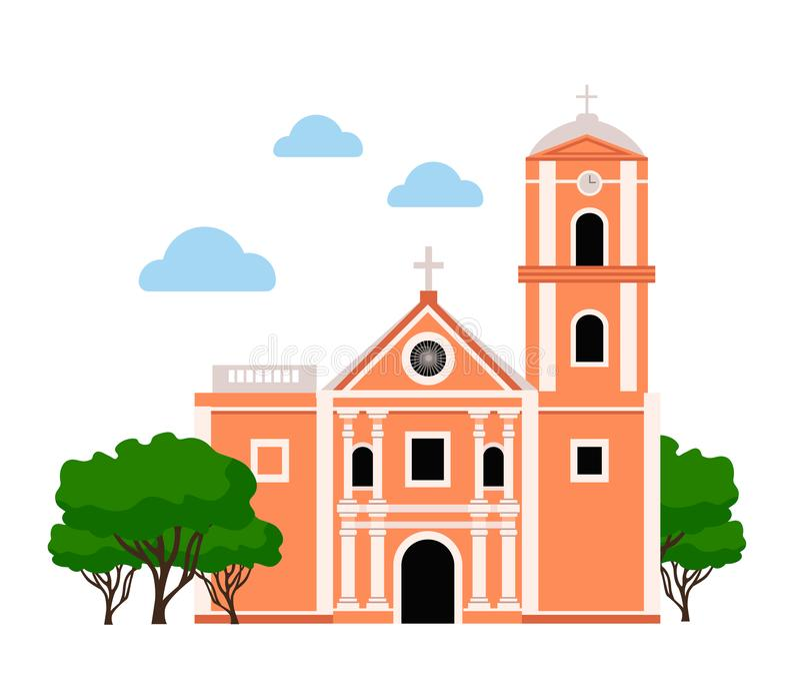 agustin教会圣 皇族释放例证