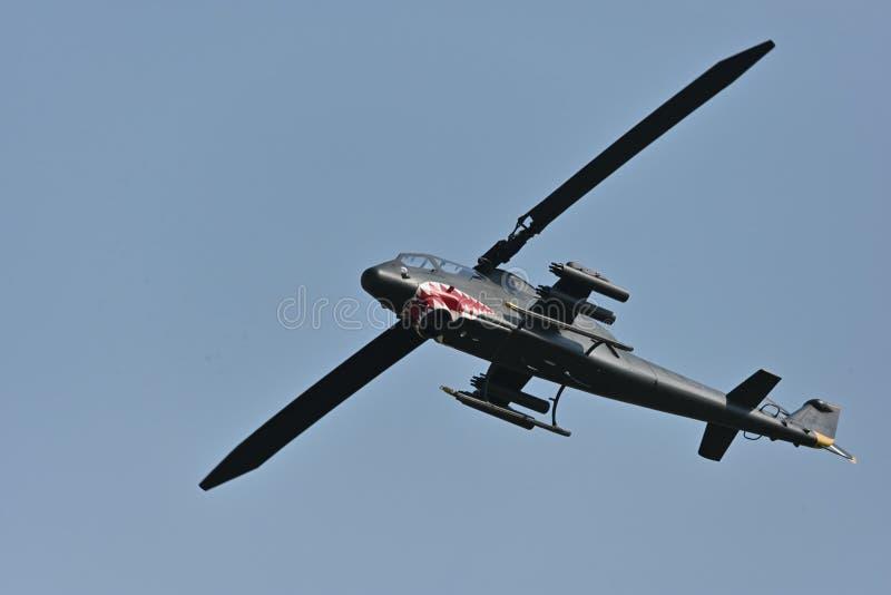 AH-1眼镜蛇,战斗直升机 免版税库存照片