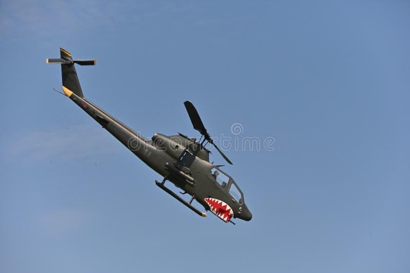 AH-1眼镜蛇,战斗直升机 免版税库存图片