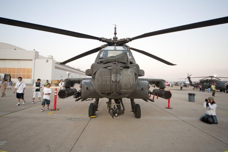 Ah-64 Apache royalty-vrije stock afbeeldingen