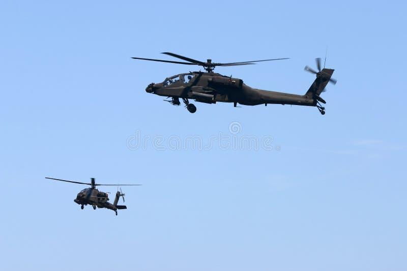 AH-64 Apache immagini stock