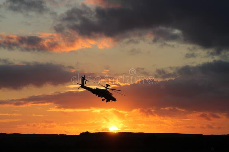Ah-64 Helikopter Apache stock foto