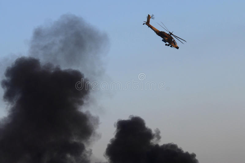 AH-64 helikopter Apache obrazy royalty free