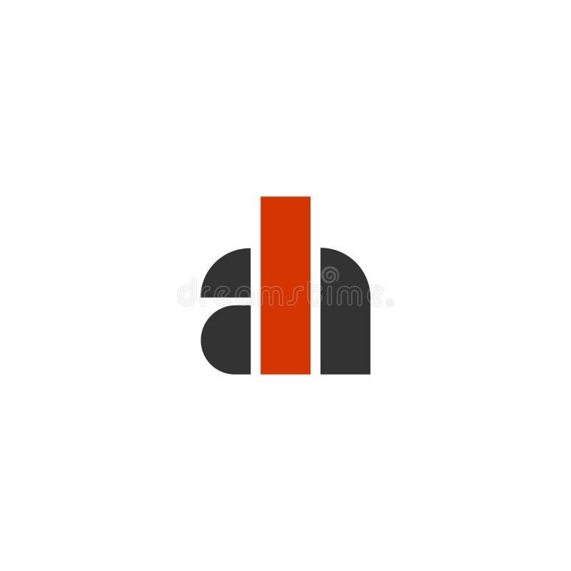 AH initials monogram concept logo simple geometric royalty free illustration
