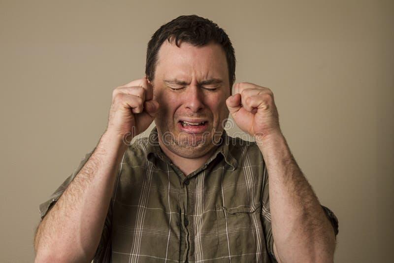 Ah mężczyzna płacze zdjęcia stock