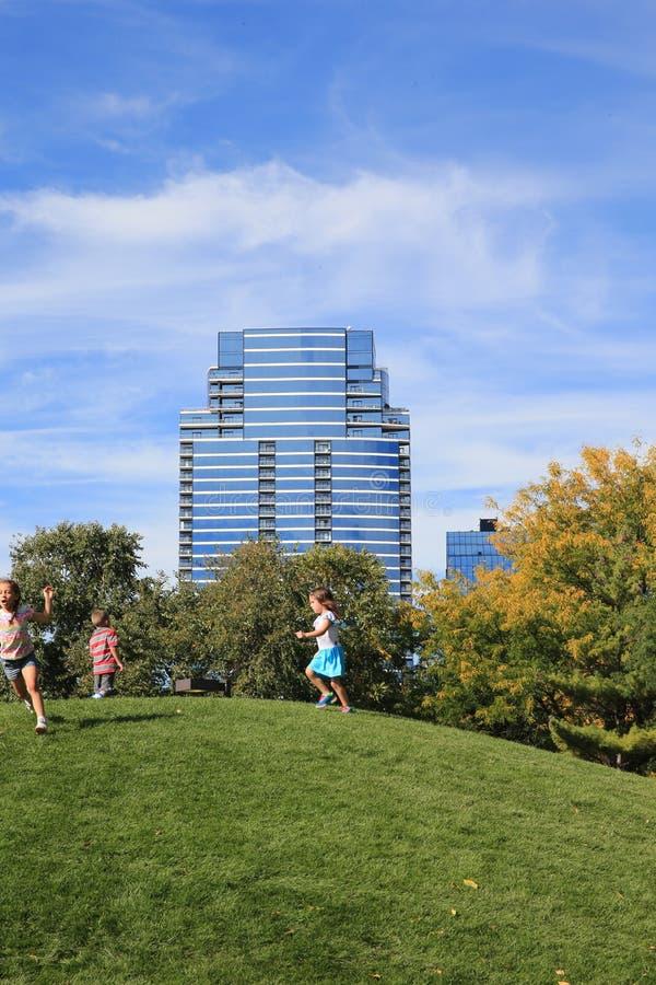 Ah-Nab-Awen Park, Grand Rapids Michigan stock photo