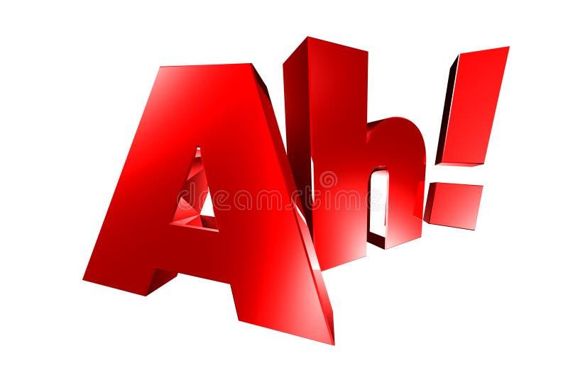 Ah rode 3D vector illustratie