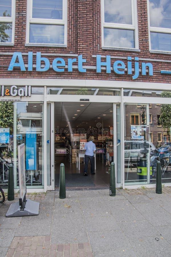 AH supermarkt bij Weesp-Nederland royalty-vrije stock afbeelding