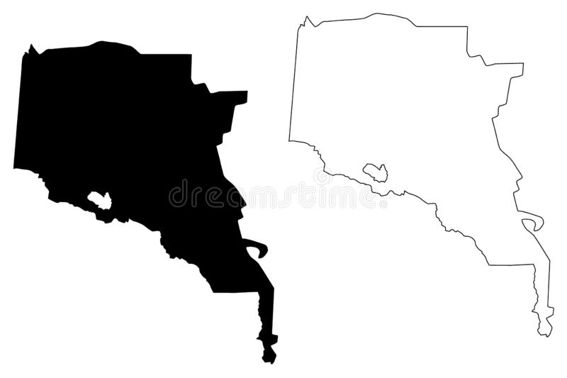 Ahal Region Republic of Turkmenistan, Districts of Turkmenistan map vector illustration, scribble sketch Ahal Province map.  stock illustration